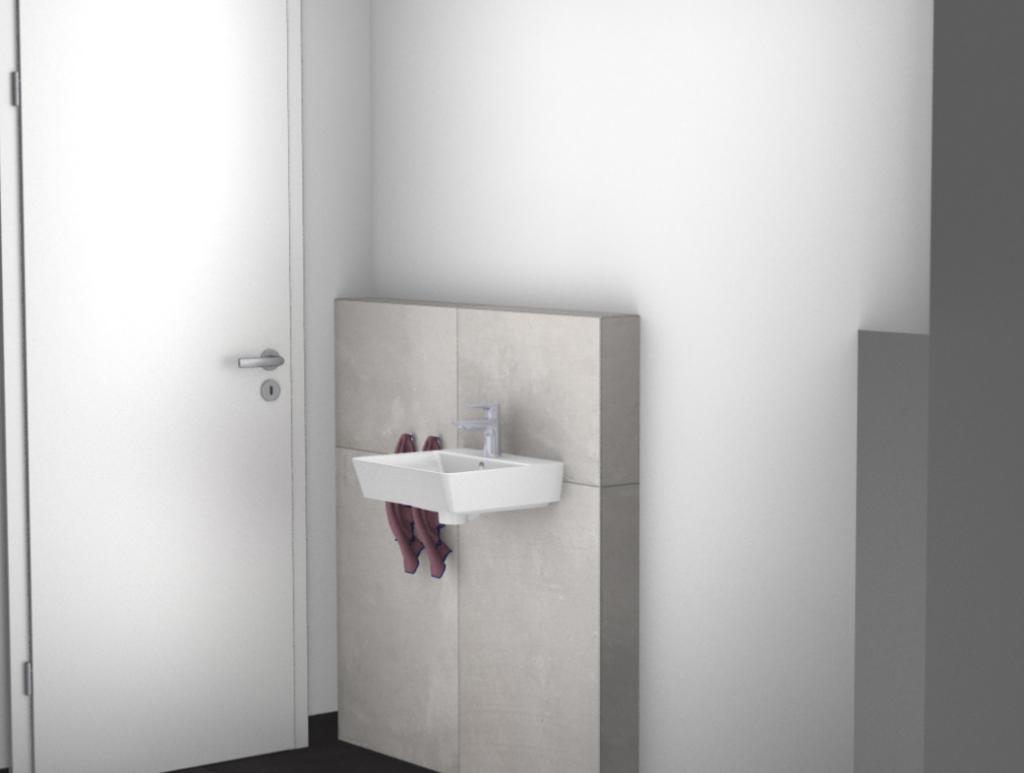 WC Waschbecken