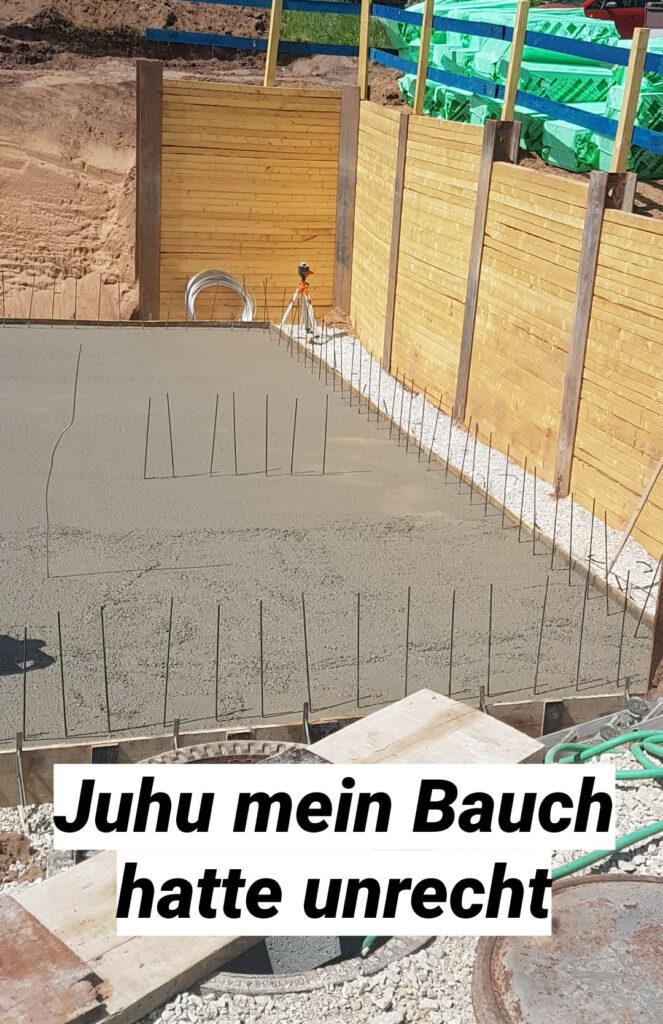 Bodenplatte mit Beton