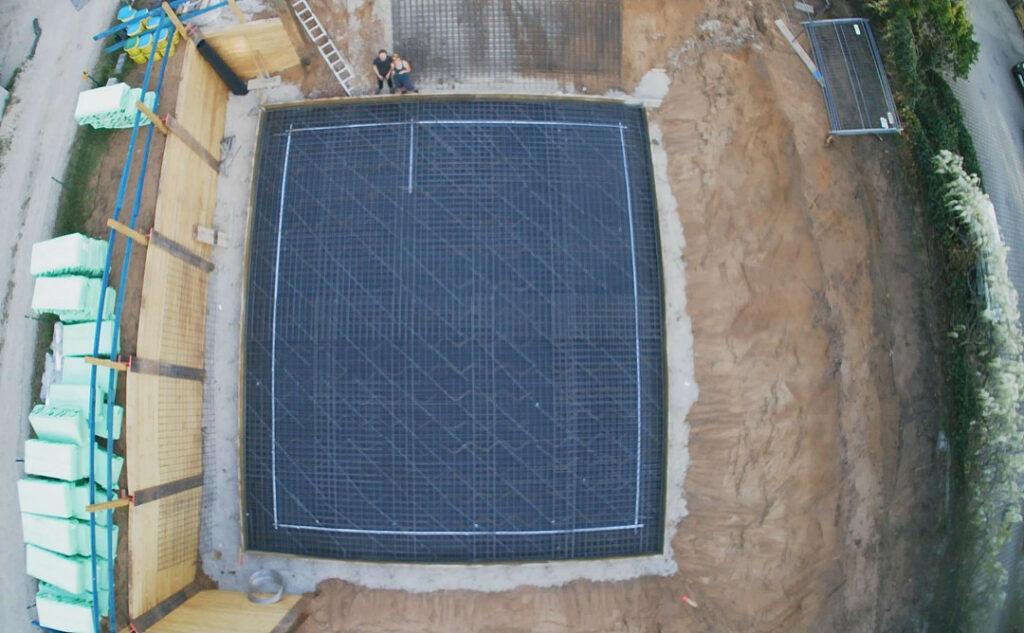 Bodenplatte von oben