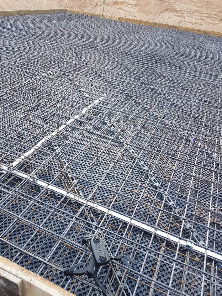 Bodenplatte vorbereitet