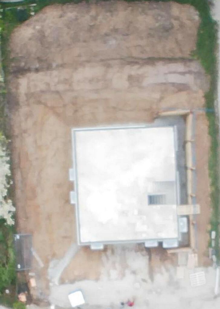 Luftbild mit Keller
